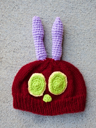 Tips for making the Very Hungry Caterpillar Hat, 3-6 month size at Songbyrdy.com