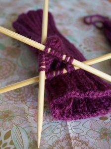 Jammin' Fingerless Mittens- picking up gusset stitches