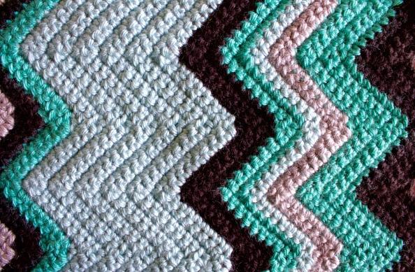 Crochet Chevron Scarf Detail